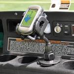 Golf cart cup holder mount for iPhone or any golf GPS