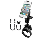 iPhone 4 / 4S on an ATV mount that fits up to 3.15""