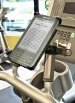 Amazon Kindle on a treadmill